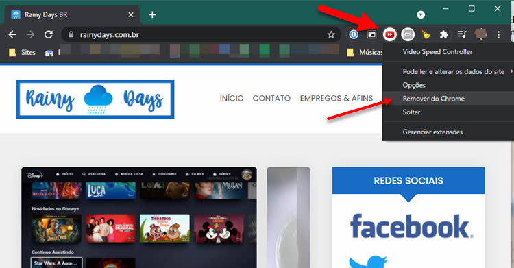 Como excluir extensão do Chrome