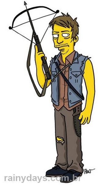 Daryl Walking Dead Simpsonizado