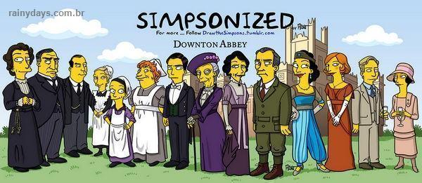 Personagens de Downton Abbey Simpsonizados