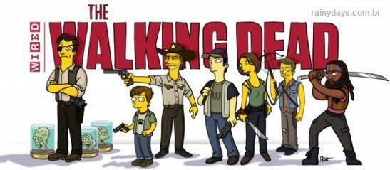 Personagens de Walking Dead Simpsonizados