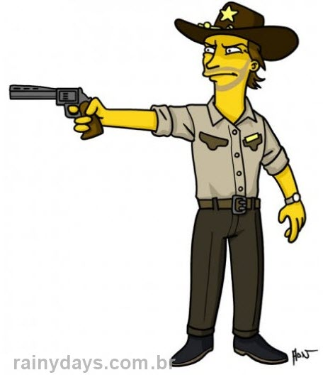 Rick Walking Dead simpsonizado