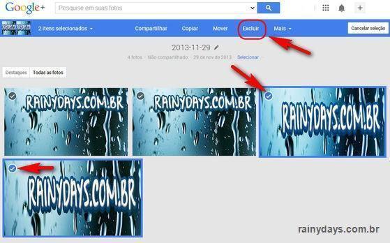 Apagar Fotos do Google Plus e YouTube 4