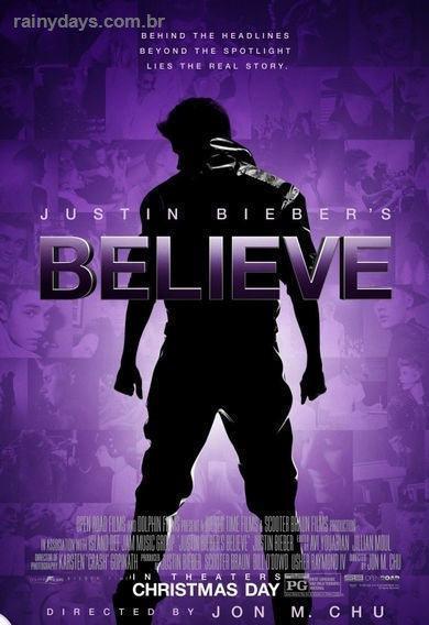 Believe 3D Poster do Filme do Justin Bieber