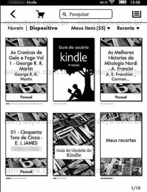 Imagem da tela tirada mostrando como tirar foto da tela do Kindle, Paperwhite, Touch e Fire