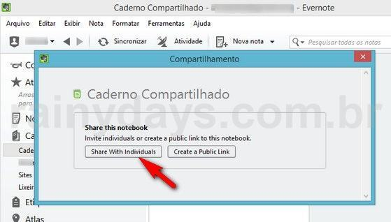 Como Compartilhar Cadernos do Evernote