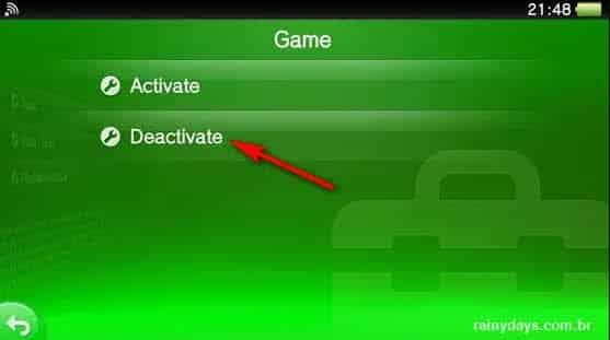 Desativar PSN como conta principal no PS Vita