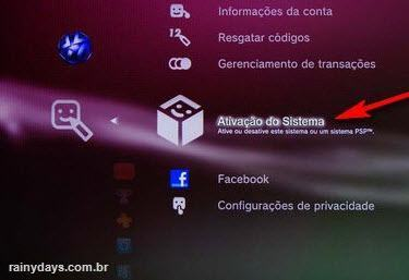 Desativar conta da PSN no PS3