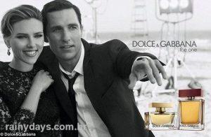 Dolce&Gabbana The One com Scarlett Johansson e Matthew McConaughey