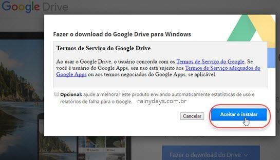 Download do aplicativo Google Drive