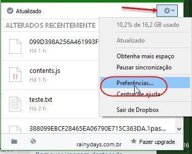 Remover Dropbox da inicialização