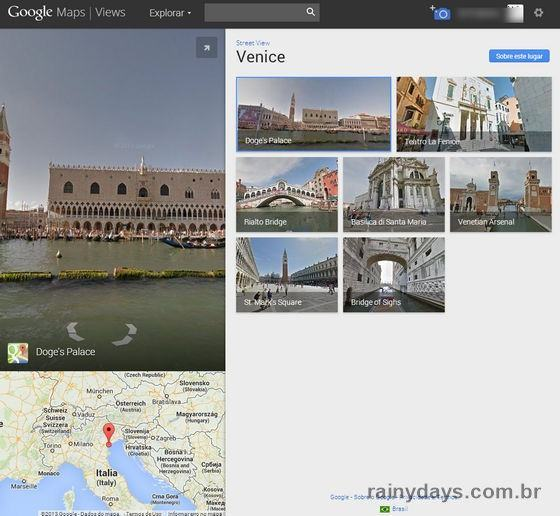 Veneza no Google Street View