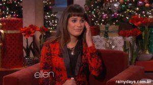 Lea Michele no programa da Ellen Falando Sobre Cory e Cantando (Vídeo)