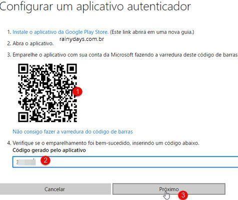 Verificação em duas etapas da conta Microsoft 11