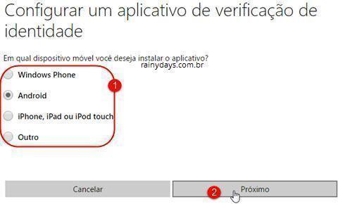 Verificação em duas etapas da conta Microsoft 7