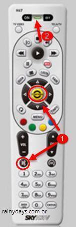 Códigos do controle SKY HD67