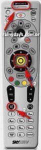 Códigos do controle SKY para controlar TV