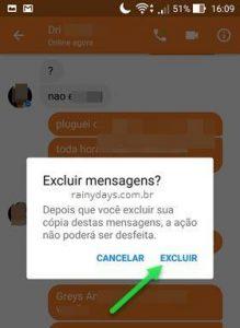 Excluir mensagens do aplicativo Messenger Android e iOS