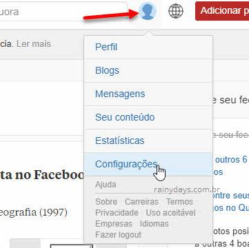 foto perfil configurações Quora