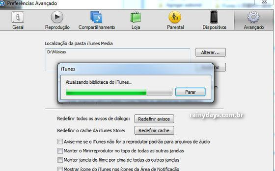 Mover Biblioteca do iTunes para HD Externo 5