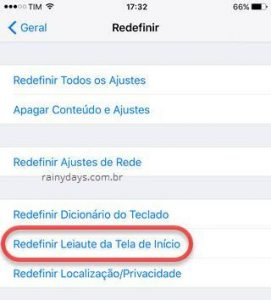 Restaurar layout da Tela Inicial do iPad e iPhone