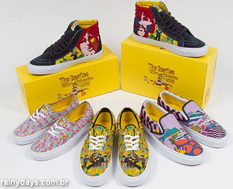 Tênis Vans dos Beatles Yellow Submarine
