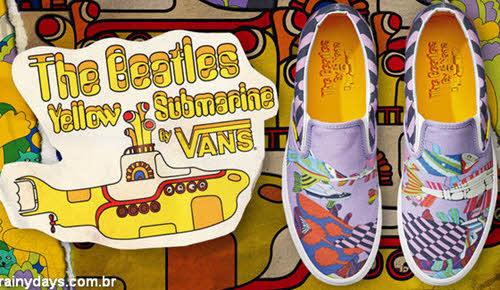 tênis Vans Submarino Amarelo Beatles