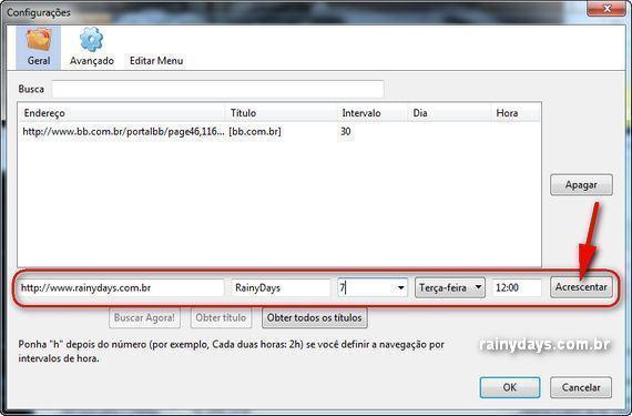 Abrir Sites Automaticamente em Intervalos de Tempo no Firefox