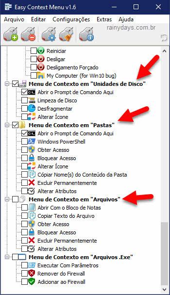 configurar Easy Context Menu para editar menu do clique direito do mouse