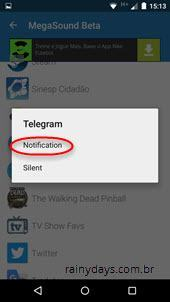 Customizar som das notificações do Android 6