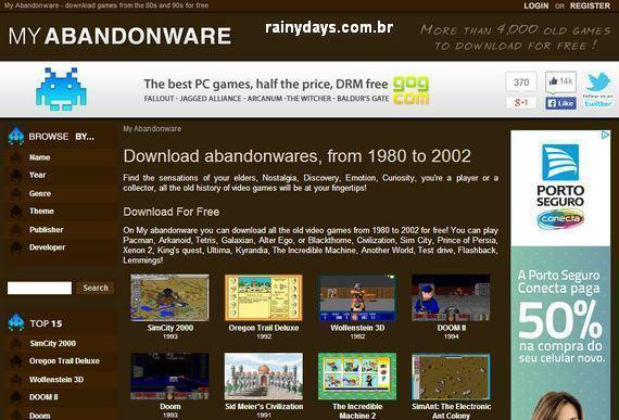 Download Jogos Antigos Abandonware