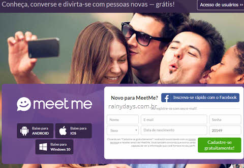 Excluir conta do MeetMe permanentemente