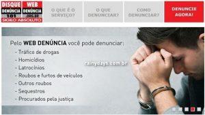 Fazer Denúncias pela Internet (Web Denúncia São Paulo)