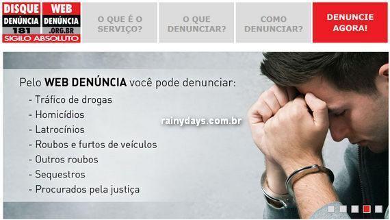 Fazer denúncias pela internet no Web Denúncia São Paulo