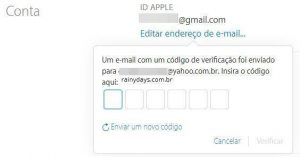 Como mudar email associado à Apple ID