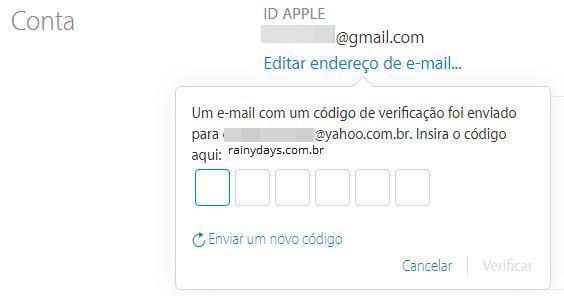 mudar o email da iTunes Store