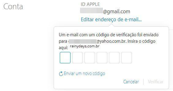 mudar email associado à Apple ID 5