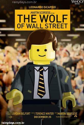 O Lobo de Wallstreet poster Lego