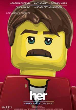 Poster filmes do Oscar em lego Ela