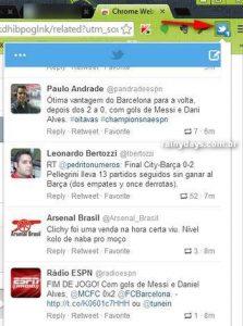 Twitter na Barra de Ferramentas do Chrome