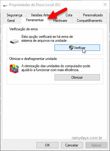 Como verificar erro no HD do Windows