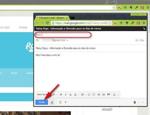 """Compartilhar Links com Amigos Usando """"Send from Gmail"""""""