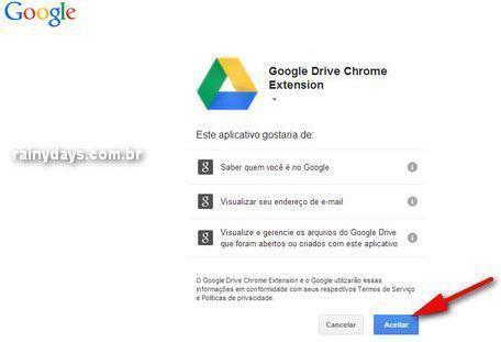 Enviar URL e fotos de sites para Google Drive 2