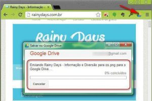 Enviar URL e fotos de sites para Google Drive (Chrome)