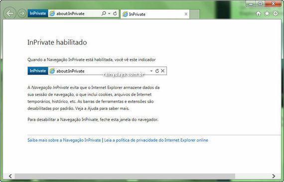 Iniciar Internet Explorer Sempre em Modo Anônimo