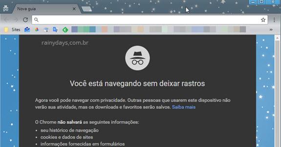 Iniciar o Chrome sempre em modo anônimo