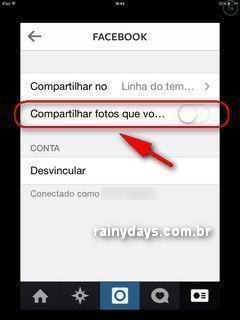 Parar de Mostrar Curtidas do Instragam no Facebook