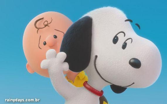 Snoopy e Charlie Brown no Trailer de Peanuts