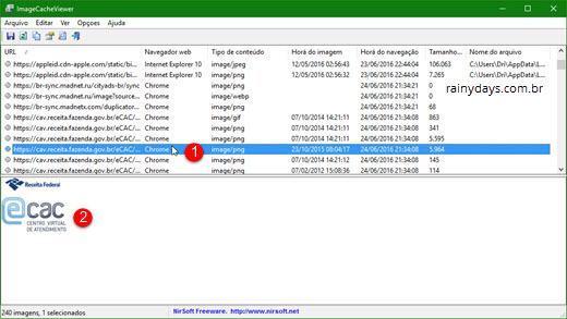 Ver imagens salvas no cache de todos navegadores 3
