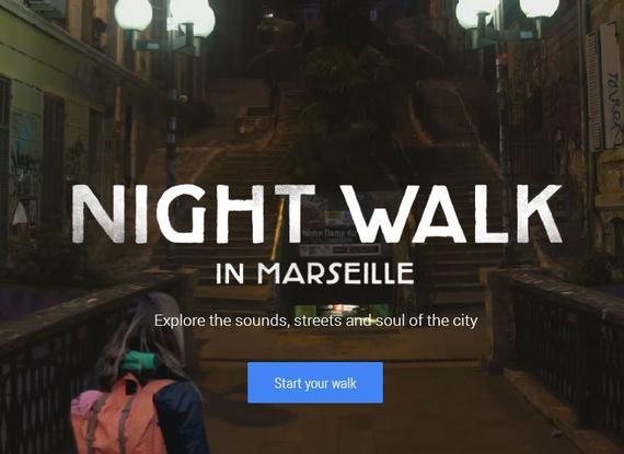 Caminhada a Noite por Marselha com Google