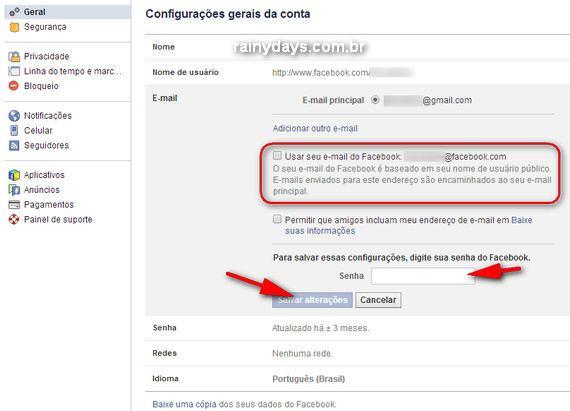 Desativar o Email do Facebook para Receber Menos Spam